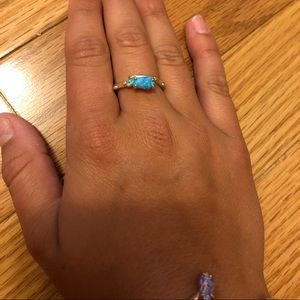 KENDRA SCOTT blue opal, silver ring! Size 7